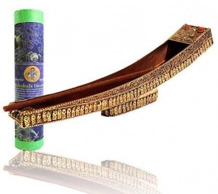 Wierookbrander bootvorm koper / messing Tibetaans € 24,95