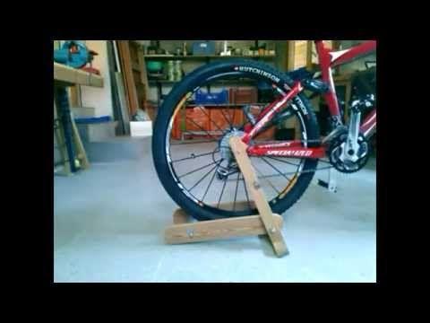 Rodillo de madera casero para bicicleta 2ª parte - YouTube