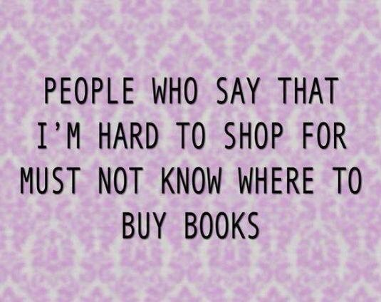 Buy me books!