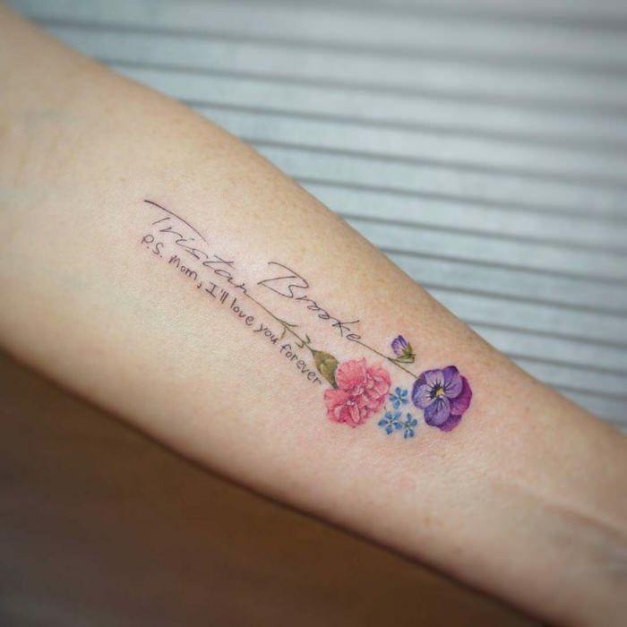 Mujer Antebrazo Flores Pequenos Tatuajes Delicados Tatuajes