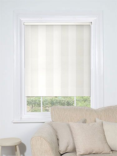 Empathy Cotton White Blackout Roller Blind from Blinds 2go
