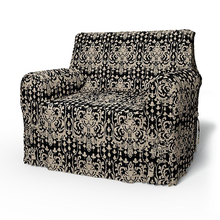 Multi Fit, Armchair Covers, Multi Fit 80-100cm using the fabric New Baroque Chocolate Brown