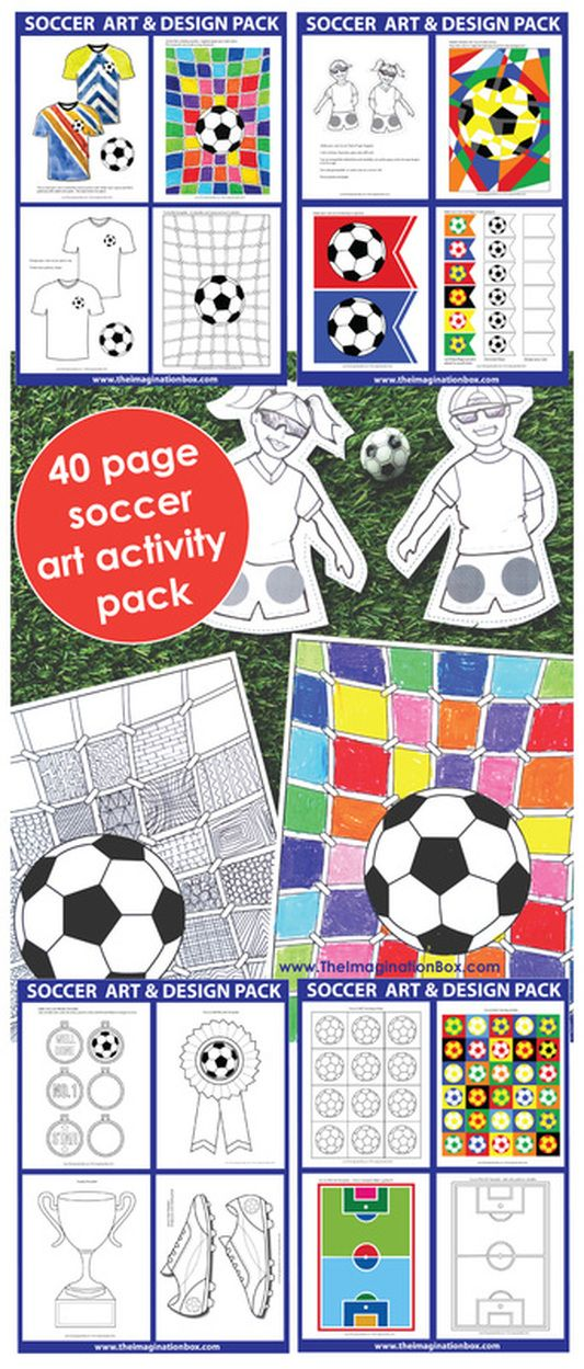 Best 25+ Soccer crafts ideas on Pinterest Soccer room, Soccer - foot ball square template