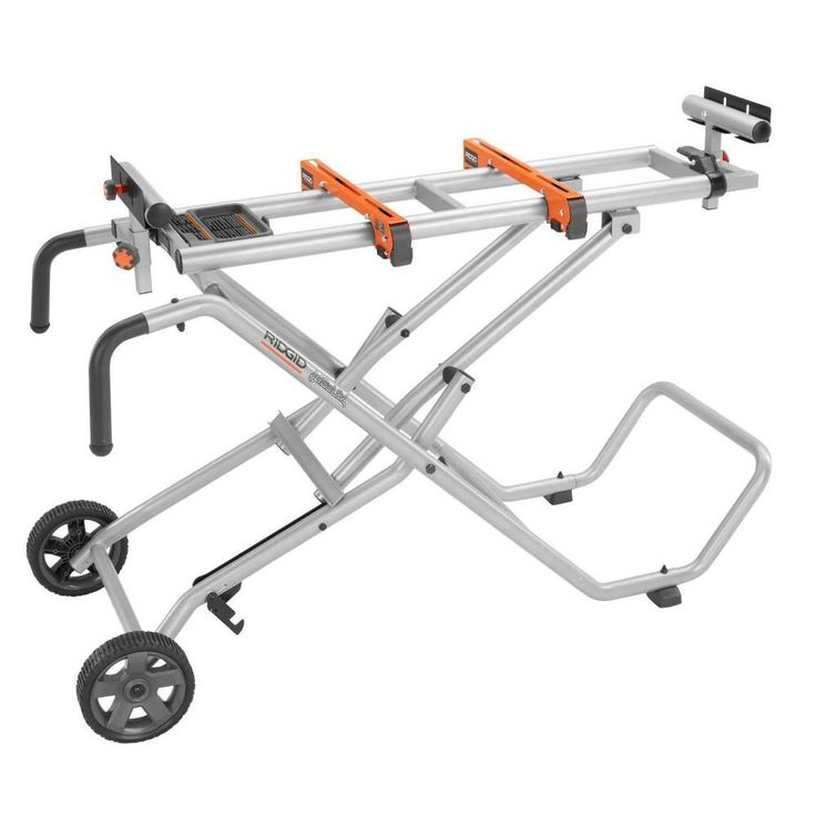 OWN IT! RIDGID Mobile Miter Saw Stand-AC9945 - The Home Depot