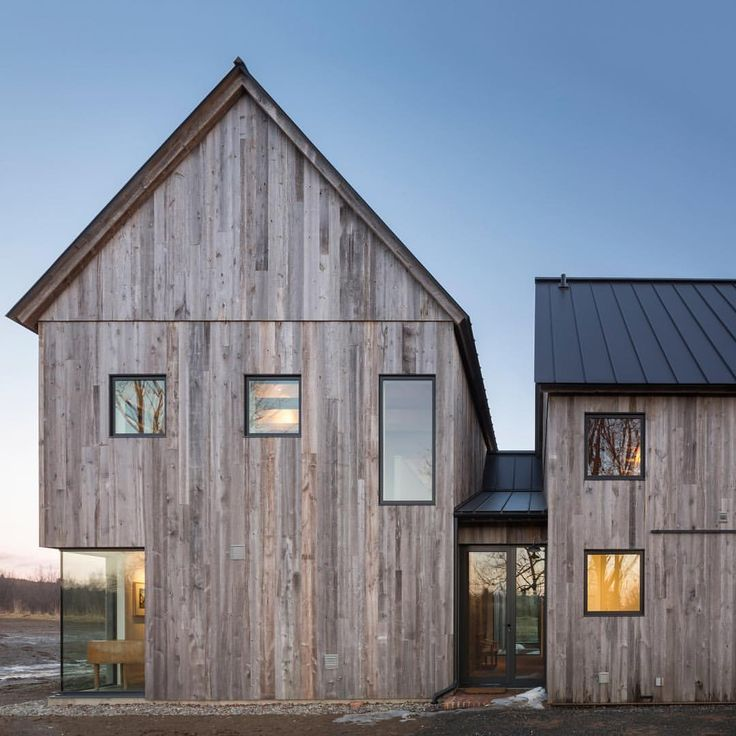 "13.5k Likes, 37 Comments - Dezeen (@dezeen) on Instagram: ""The old agricultural buildings of Quebec informed this modern farmhouse near Montreal, which…"""