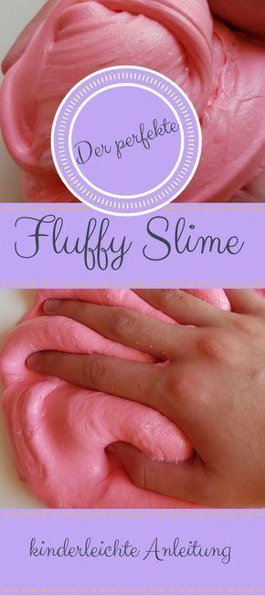 Hier gibt es ein super cooles und DIY für euch. Und zwar einen perfekten Fluffy Slime! Einfache Schitt für Schitt Anleitung. Tagelanger Spaß am kneten und spielen.