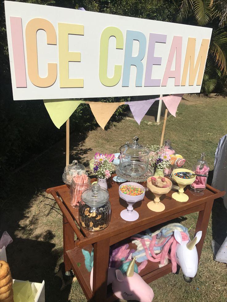 Ice cream bar. Unicorn party