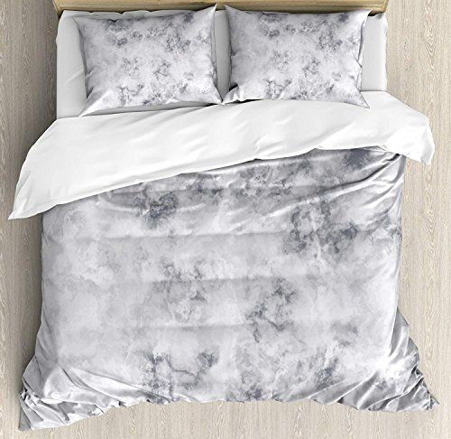 Marble Duvet Cover Set Luxury Soft Hotel Quality 4 Piece Twin
