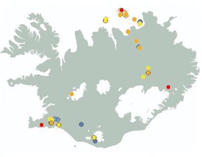 Iceland live Earthquake map