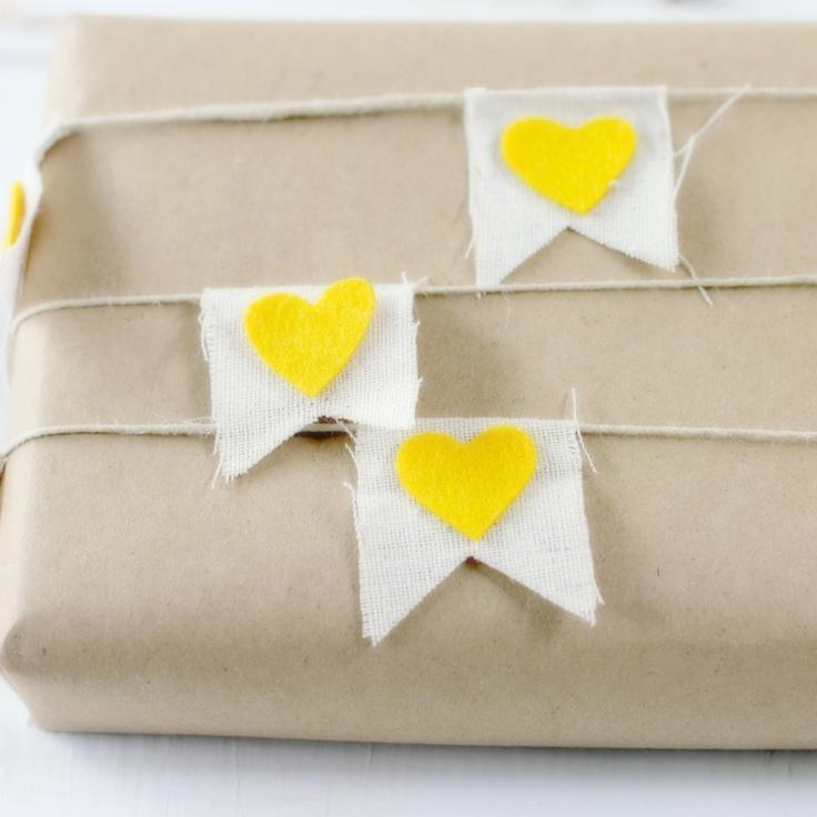 Yellow Heart Bunting - $19