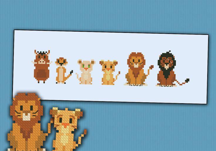 Il sagit dune parodie, un motif dinspiration au point de croix de cartoon de Disney le Roi Lion, mettant en vedette Pumbaa, Timon, Nala, Simba, Mufasa et Scar  Caricatures de fou pour Disney ? Jetez un oeil à dautres Disney motifs ! https://www.etsy.com/shop/cloudsfactory/search?search_query=disney  POINT CROIX DÉTAILS DE MOTIF AU POINT DE CROIX : Points : 114 x 26 Taille environ (avec 16 count Aida): 20, 5 x 5 cm-8 x 2 po  Avec lachat, vous recevrez un lien de téléchargement avec : Un motif…