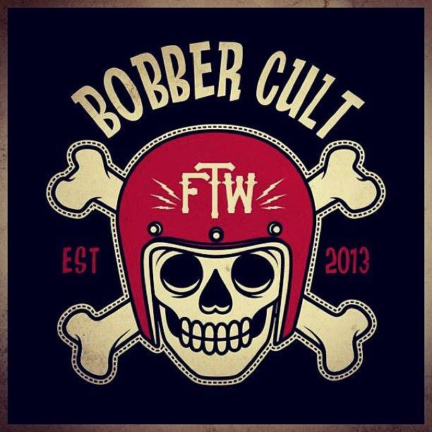 """159 curtidas, 4 comentários - Bobber Cult (@bobbercult) no Instagram: """"#bobber #bobbercult #skull #helmet #lowbrow #logo"""""""
