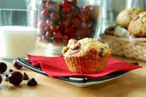 muffins chocolat noir canneberges