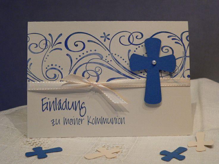 1000+ images about kommunion/konfi on pinterest | first communion, Einladung