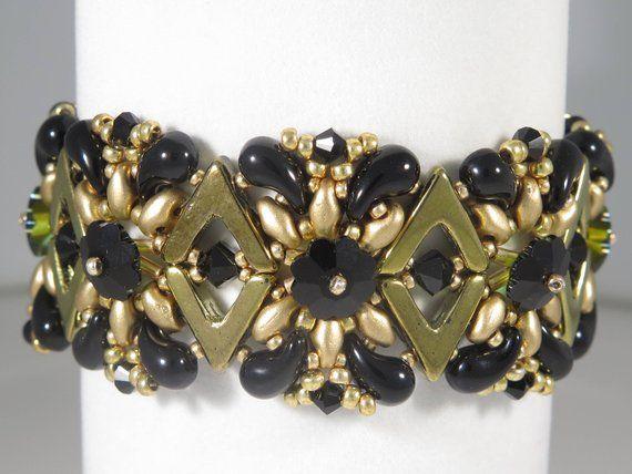 1ed28fe40 Queen Bee Bracelet - Beading Tutorial - AVA Swarovski and Zoliduo Bracelet  - Beading Pattern - AVA Z