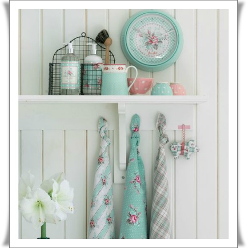 """""""TASTE of the North"""": Pastel, Idea, Sweet, Shabby Chic, Than, Country Home, Colors Schemes, Dishes Towels, Green Gates"""