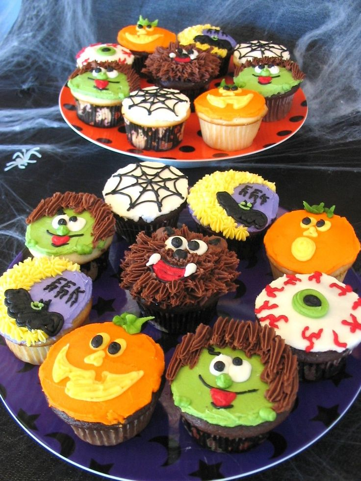 24 best Halloween ideas images on Pinterest Conch fritters - decorating ideas for halloween cupcakes