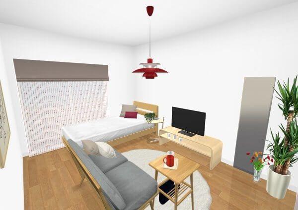 6畳1kの一人暮らしの部屋 家具やインテリアのレイアウトとアイテム別のポイント 6畳 インテリア インテリア 家具