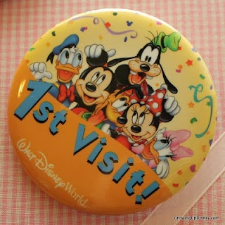 Be sure to request a 1st Visit button at Guest Relations