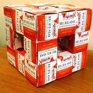 7 best what to do with your old business cards images on pinterest making cubes that you can connect to each other to create more complex structures colourmoves