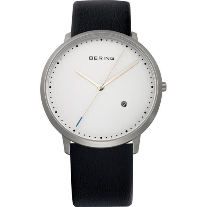 Montre Bering , Montre Extra Plate Cuir - Homme 11139-404