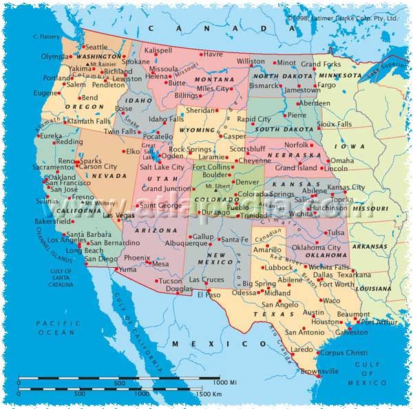 Western North America Map.Map Of The West Coast Of Usa West Coast Usa Map Favorite Places