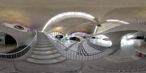 Do I have a little love affair with the architectural design of Eero Saarinen?  Why yes, yes I do!!  Another amazing  example of his artistry, the TWA terminal at JFK Airport....just TOO COOL!!
