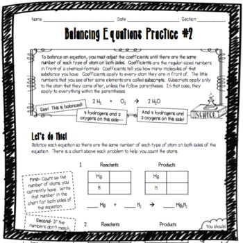 You Asked For It Another Balancing Chemical Equations Worksheet Using My Tried And True Method That Makes It M Chemical Equation Equations Balancing Equations