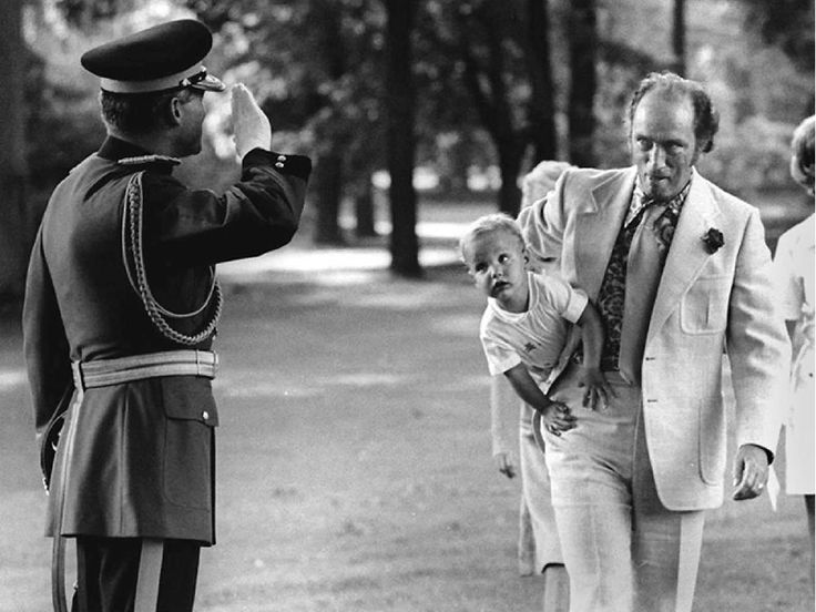 Pierre Trudeau and his son Justin arrive at Rideau Hall for a lawn party thrown by the governor general for the leaders visiting Ottawa for the Commonwealth heads of government conference in 1973.