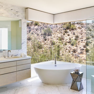 Contemporary Bathroom Window Design,