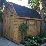 Every yard needs a shed. This on is made with MicroPro® Sienna treated wood!