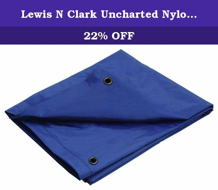 Lewis N Clark Uncharted Nylon Tarp (Navy, 8x10-Feet). Ideal for camping or hiking, this lightweight waterproof tarp, can make cover, protect a tent in wet weather.