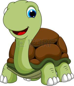 Cute turtle cartoon  photo