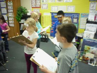 Sight word head hunt:  Write the word on each person's headband next to their name. #sightwords