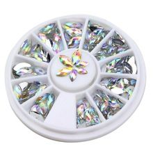 New Fashion 3D Cavalo de Cristal Gema Olhos WY161-WY349 Glitters Pedrinhas DIY Nail Art Dicas Decoração Manicure Roda alishoppbrasil