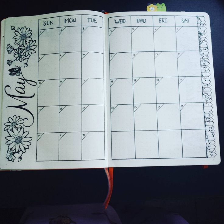 I was feeling the florals :) #bujo #bulletjournaljunkies #bulletjournal #may…