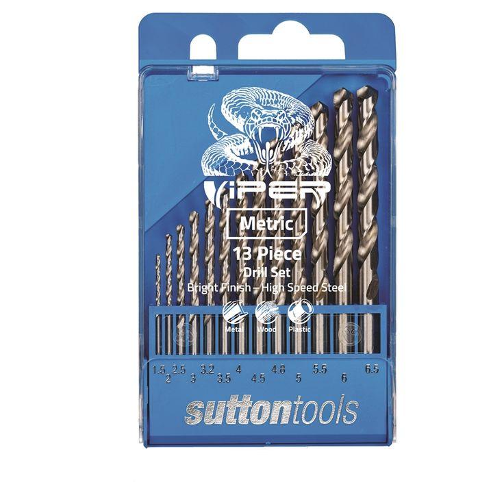 Sutton Tools 13 Piece Viper Metric Drill Bit Set