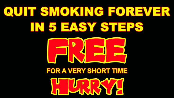 Quit Smoking Forever in Five Easy Steps