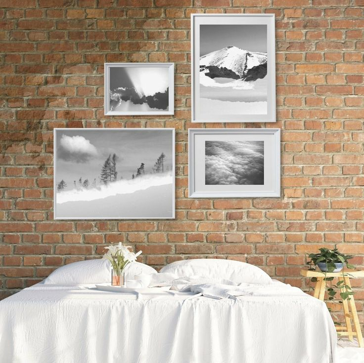 Black and white gallery wall printables inspired by nature. Whimsical double exposures and photos in calming atmosphere. Hang in your bedroom and have a nice dreams!