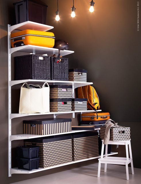 27 home storage ideas. Ideas on how to organize and add more storage to just about every room in your home.
