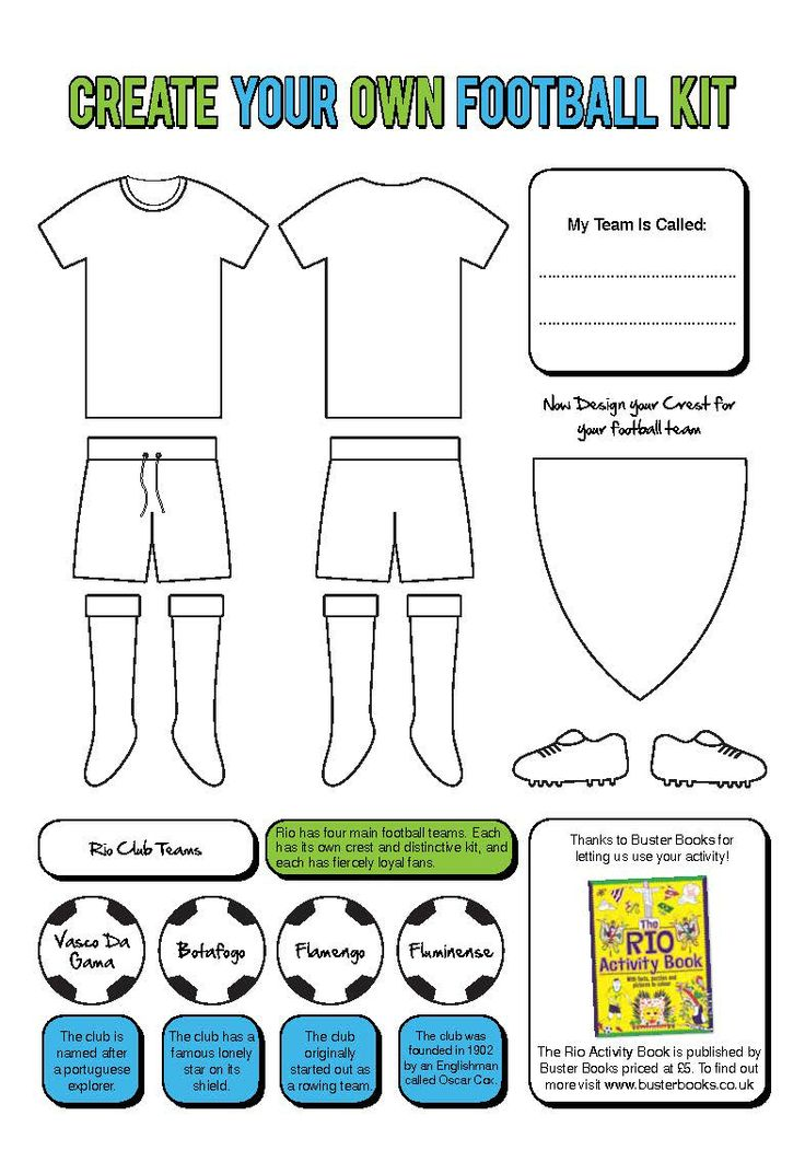 Design Your Own Football Kits Uk: Design your very own football kit or colour in your favourite rh:pinterest.com,Design