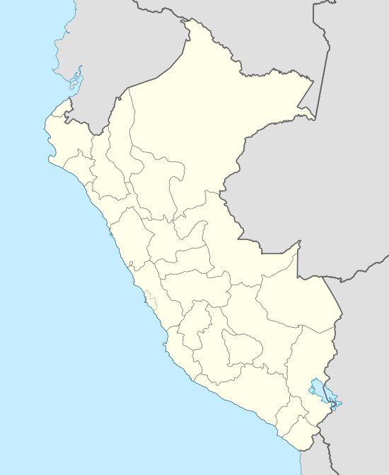 Machu Picchu ubicada en Perú
