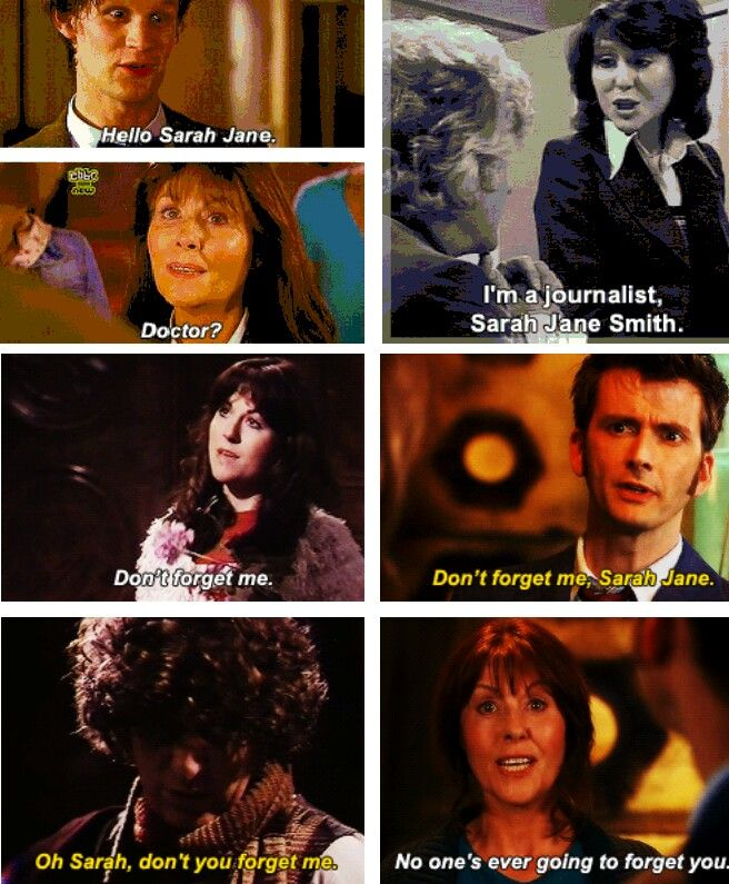 We will miss you Sarah Jane Smith