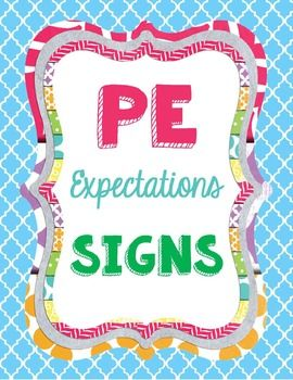From the Gym PE Creations: Physical Education Rules Expectations PE Ideas