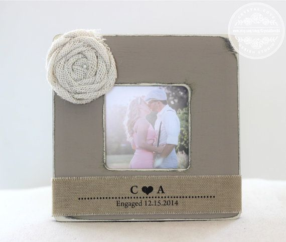 personalized engagement picture frame engagement by crystalcoveds 2795 - Engagement Photo Frames