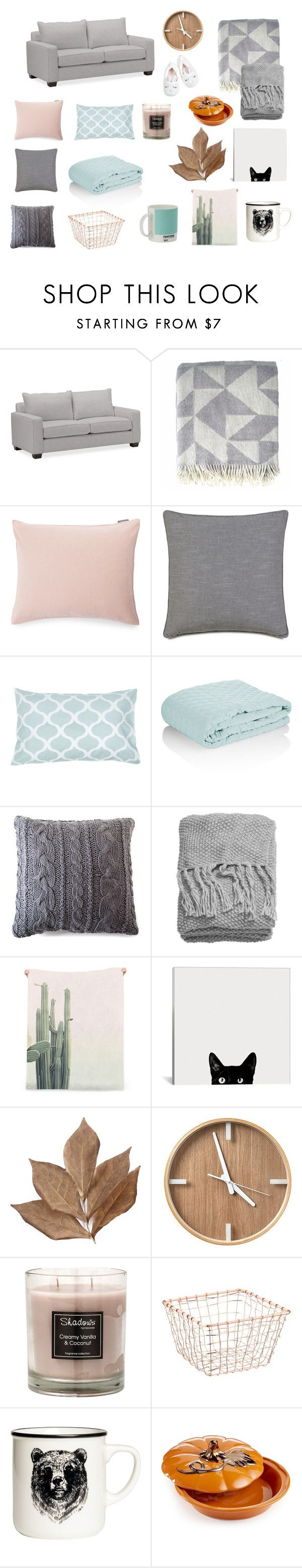 """AUTUMN at HOME"" by sweetlittlebunny on Polyvore featuring interior, interiors, interior design, dom, home decor, interior decorating, Pottery Barn, Lexington, Allem Studio i Pom Pom at Home"
