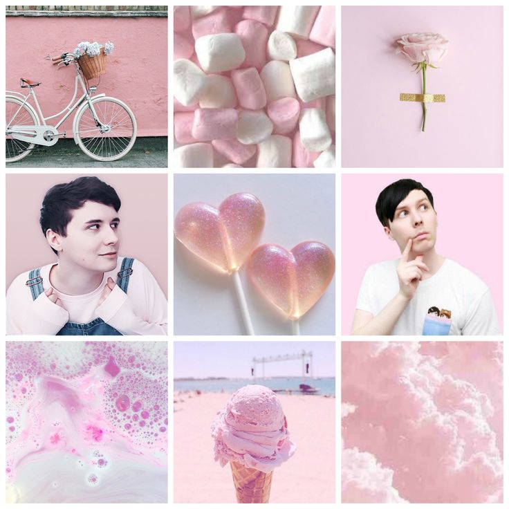 Requested! Pink Dan and Phil moodboard (my edit)
