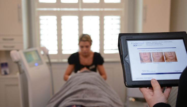 """EndyMed™3DEEP® radio frequency treatments stimulate your body's natural collagen renewal process leading to skin tightening and a reduction in the appearance of wrinkles. The treatment is ideal for everything from body contouring, facial skin tightening, or body tightening. It is also a finalist for """"Treatment of the Year"""" at the 2015 Aesthetics Awards."""