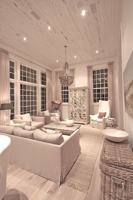 Love this living space for a beach home