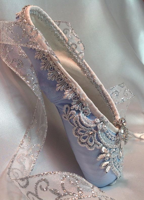 Cinderella themed pale blue and silver by DesignsEnPointe on Etsy
